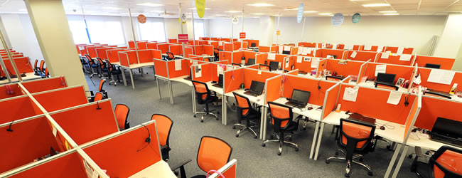 location position call center